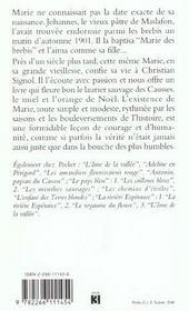 Marie Des Brebis - 4ème de couverture - Format classique