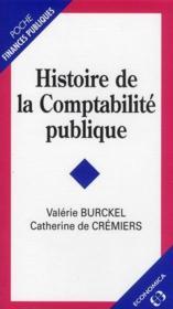 Histoire de la comptabilité publique - Couverture - Format classique