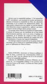 Histoire de la comptabilité publique - 4ème de couverture - Format classique