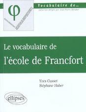 L'Ecole De Francfort - Intérieur - Format classique