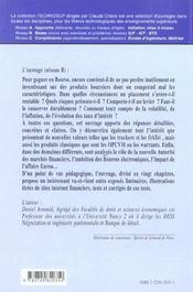 Economie La Bourse Et Les Produits Boursiers Marches Indices Actions Produits Derives - 4ème de couverture - Format classique