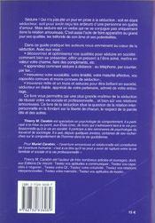 Le Livre De La Seduction - 4ème de couverture - Format classique