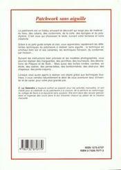Patchwork En Artichaut - 4ème de couverture - Format classique