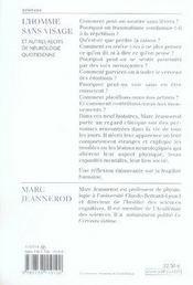 L'homme sans visage ; et autres récits de neurologie quotidienne - 4ème de couverture - Format classique