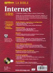 Bible internet - 4ème de couverture - Format classique