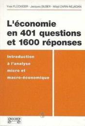 L'economie en 401 questions - Couverture - Format classique