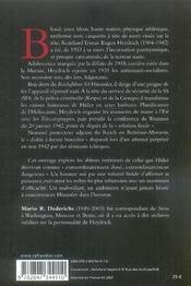 Heydrich - 4ème de couverture - Format classique