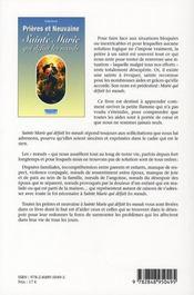 Prières et neuvaine à Sainte Marie qui défait les noeuds - 4ème de couverture - Format classique