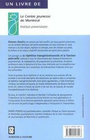 Amours Clouees - Repetition Transgenerationnelle Et Fonction Paternelle - 4ème de couverture - Format classique