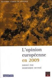 L'opinion européenne en 2009 - Couverture - Format classique
