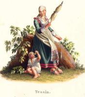 Tessin. Fileuse avec enfant. Costumes Suisses par G. Lory fils et F.-W. Moritz - Couverture - Format classique