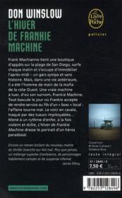 L'hiver de Frankie Machine - 4ème de couverture - Format classique