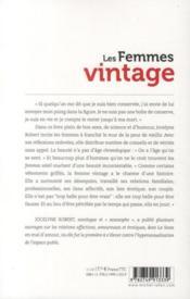 Les femmes vintage - 4ème de couverture - Format classique