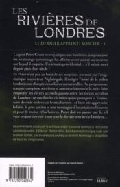 Le dernier apprenti sorcier t.1 ; les rivières de Londres - 4ème de couverture - Format classique