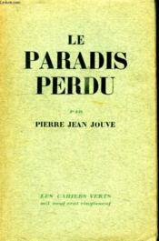 Le Paradis Perdu. - Couverture - Format classique