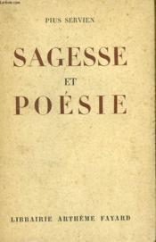 Sagesse Et Poesie. - Couverture - Format classique