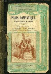 PARIS ROMANTIQUE, VOYAGE EN FRANCE DE Mrs. TROLLOPE (AVRIL-JUIN 1835) - Couverture - Format classique