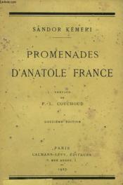 Promenades D'Anatole France. - Couverture - Format classique
