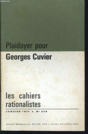 LES CAHIERS RATIONALISTES n°279 : Plaidoyer pour Georges Cuvier - Couverture - Format classique