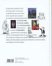 La petite encyclopedie de l'art - 4ème de couverture - Format classique
