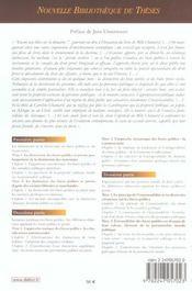 La distinction des biens publics et des biens prives - volume 33 - 4ème de couverture - Format classique