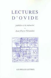 Lectures D'Ovide - Intérieur - Format classique