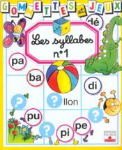Syllabes t.1 - Couverture - Format classique