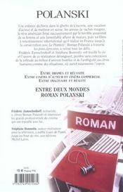 Polanski Entre Deux Mondes - 4ème de couverture - Format classique