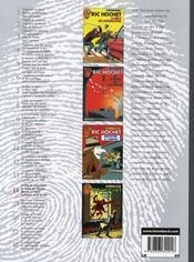 Ric Hochet ; INTEGRALE VOL.14 - 4ème de couverture - Format classique