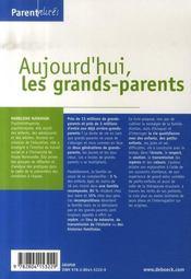Aujourd'hui, les grands parents ; sur le chemin de la transmission - 4ème de couverture - Format classique