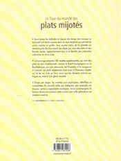 Le tour du monde des plats mijotes - 4ème de couverture - Format classique