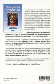 Prières puissantes de protection - 4ème de couverture - Format classique