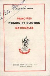 Principes d'union et d'action nationales - Couverture - Format classique