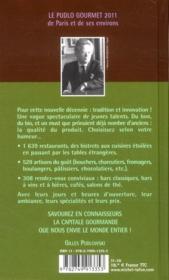 Pudlo Paris (édition 2011) - 4ème de couverture - Format classique