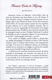Francois Eudes de Mézeray ; histoire et pouvoir en France au XVIIe siècle - 4ème de couverture - Format classique