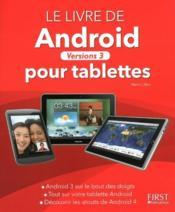 Livre d'Android pour tablettes ; versions 3 - Couverture - Format classique