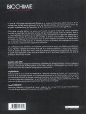 Biochimie (2e édition) - 4ème de couverture - Format classique