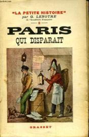 Paris Qui Disparait. - Couverture - Format classique