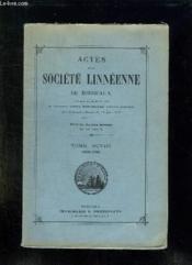 Actes De La Societe Linneenne De Bordeaux. Tome Xcviii: 1959 - 1960. - Couverture - Format classique