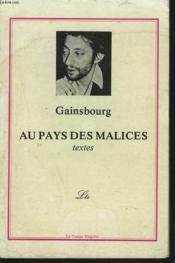 Au Pays Des Malices. Textes. - Couverture - Format classique