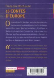 15 contes d'Europe - 4ème de couverture - Format classique