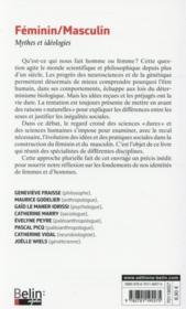 Féminin/masculin ; mythes et idéologies - 4ème de couverture - Format classique