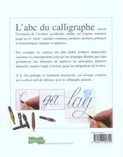 L'abc du calligraphe - 4ème de couverture - Format classique