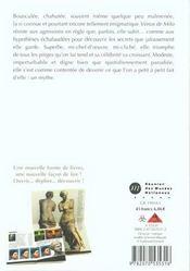 La venus de milo - un mythe - 4ème de couverture - Format classique