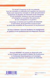 Entreprises En Difficulte Et Gestion De Tresorerie - 4ème de couverture - Format classique