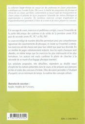 Mecanique Des Systemes Et Du Solide 1re Annee Pcsi 2e Annee Pc Pc* Psi Psi* Cours Et Exercices Corr - 4ème de couverture - Format classique