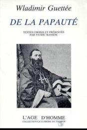 De La Papaute - Couverture - Format classique