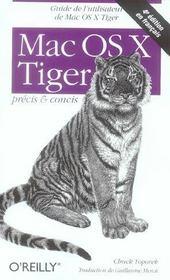 Mac Os X Tiger Precis Et Concis 4e Edition - Intérieur - Format classique