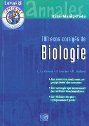 Biologie : 100 exos corriges - Intérieur - Format classique