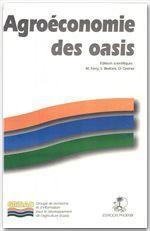 Agroéconomie des oasis - Couverture - Format classique